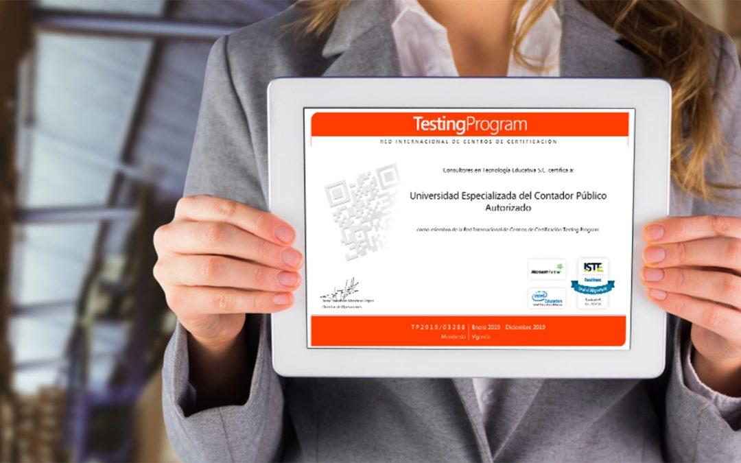 La Universidad Especializada del UNESCPA recibe Certificación Testing Program